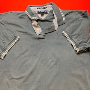 Gray Tommy Hilfiger Polo Shirt